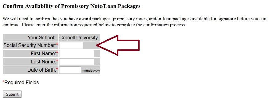Cornell University Loans