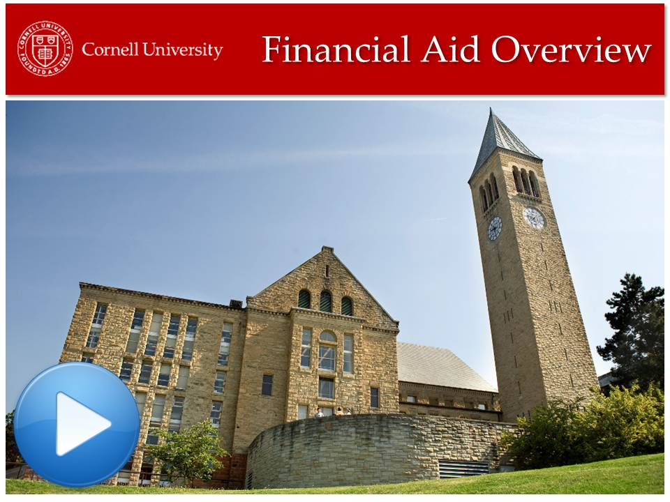 Financial Aid Overview Video Tutorial