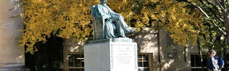 Cornell statue